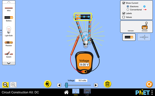 Teaching Electric circuits [PhET Simulation]