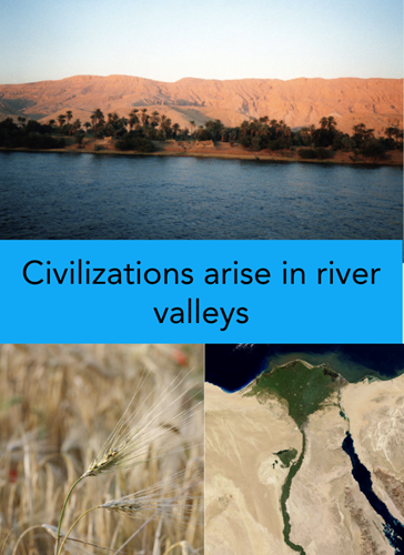 Teaching Civilizations arise on rivers