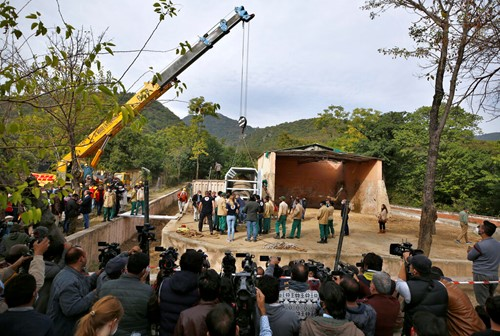 """Teaching """"World's loneliest elephant"""" arrives safely to new home"""