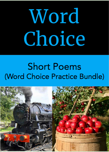 Teaching Word Choice and Figurative Language Practice Bundle: Short Poems