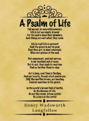 Teaching A Psalm of Life