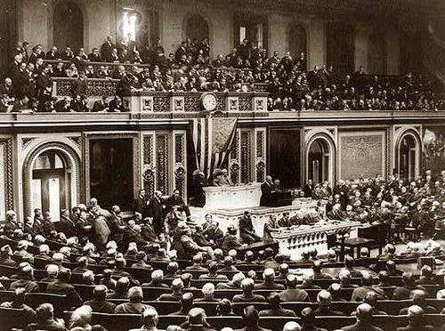 Joint Address to Congress Leading to a Declaration of War Against Germany (1917)