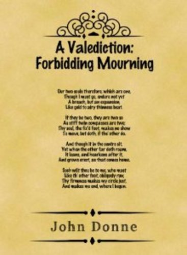 Teaching A Valediction: Forbidding Mourning