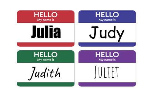Teaching Names/Nombres