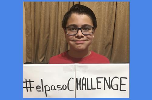 Teaching Boy creates #ElPasochallenge to help his community heal