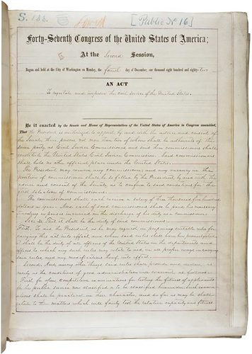 Transcript of Pendleton Act (1883)