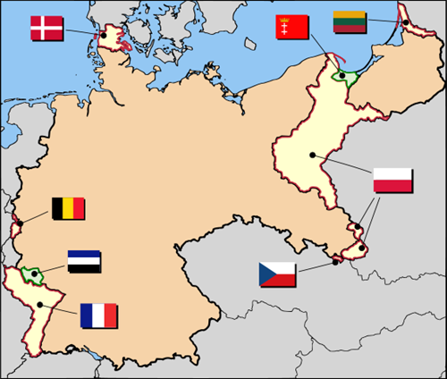 Post-WWI territorial changes and reparations