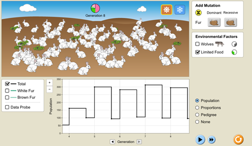 Teaching Natural Selection - Resource Availability and Carrying Capacity [PhET Simulation]