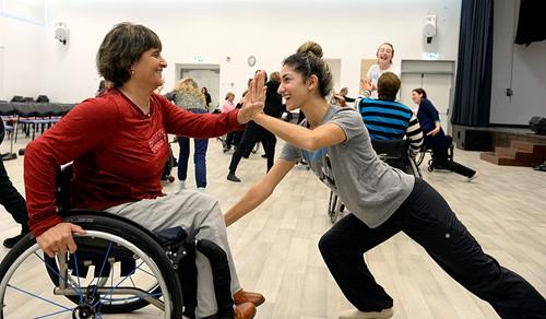 Teaching Dancers on wheels