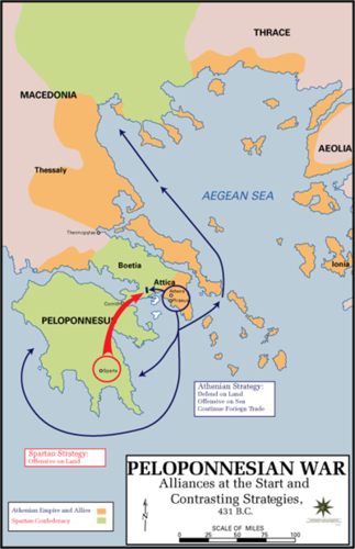 The Persian Wars And The Peloponnesian War