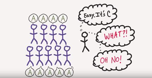 Peer pressure psychology - How Group Think happens [video]