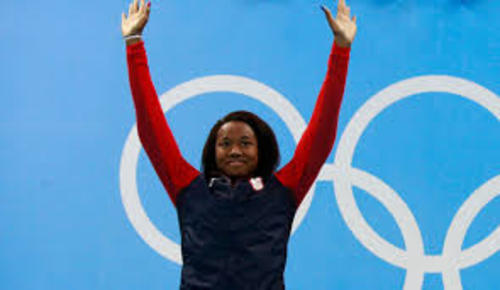 Teaching Who is Simone Manuel, first black woman Olympic swimming medalist?