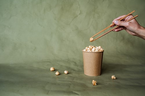 Teaching Why You Should Eat Popcorn With Chopsticks