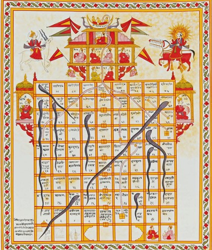 Teaching Ancient Indian morality game like chutes and ladders