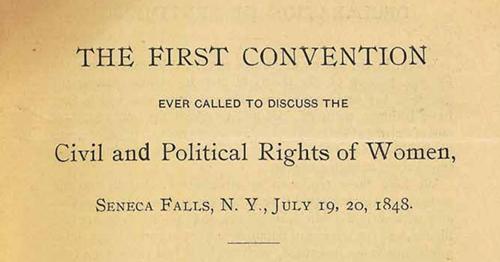 Teaching The Seneca Falls Convention