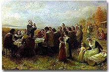 William Bradford and the first Thanksgiving