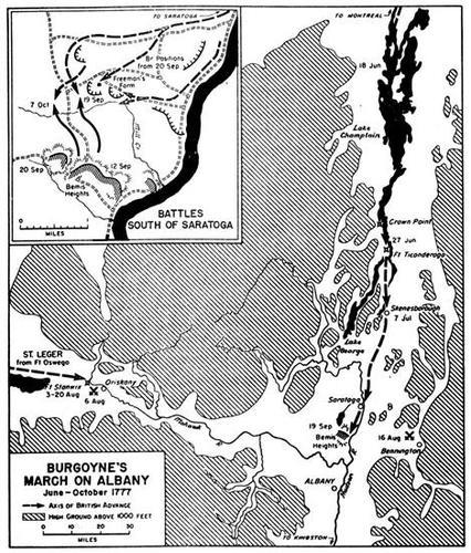 Burgoyne's army and the Battle of Saratoga