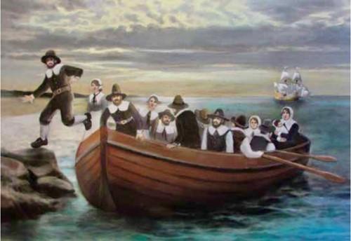 Teaching The Pilgrims Come to America