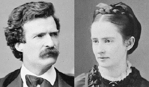 Teaching Mark Twain's adventures in love: How a rough-edged aspiring author courted a beautiful heiress