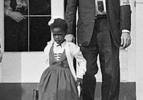Teaching Who was the first black child to go to an integrated school?