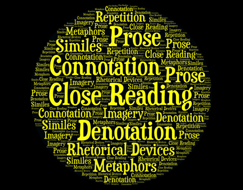Teaching Writing About Literature Lesson 6: Close Reading for Connotation, Denotation, and Rhetorical Devices