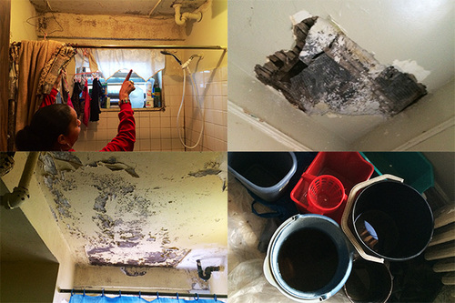 Nyc Public Housing: Fixing A Leak With A Bucket