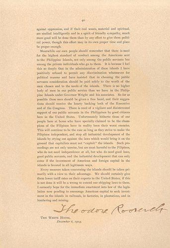 Transcript of Theodore Roosevelt's Corollary to the Monroe Doctrine (1905)