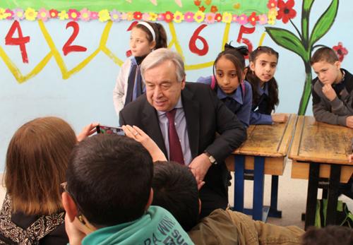 Teaching U.N. Secretary-General's New Year's video message