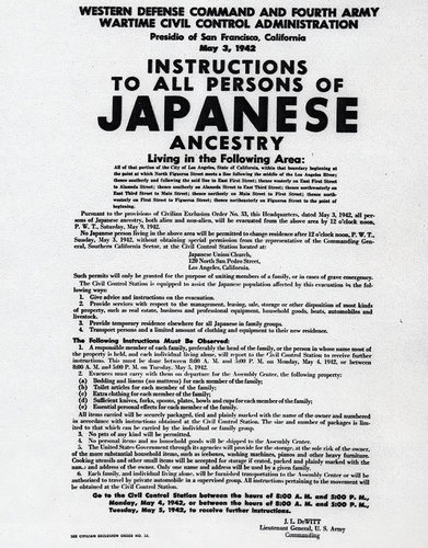 Executive Order 9066: Resulting in the Relocation of Japanese (1942)