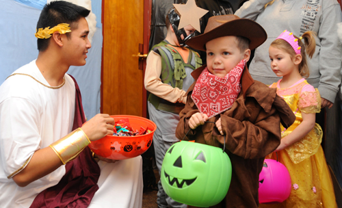 Teaching Tricking and treating has a history
