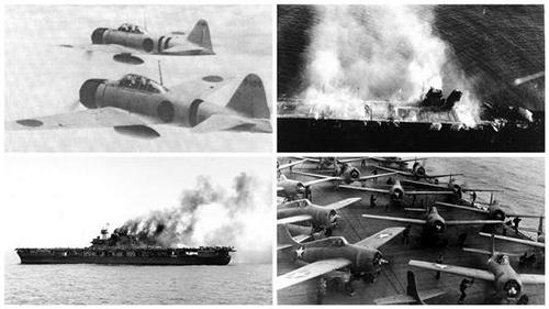 Battles of Coral Sea and Midway