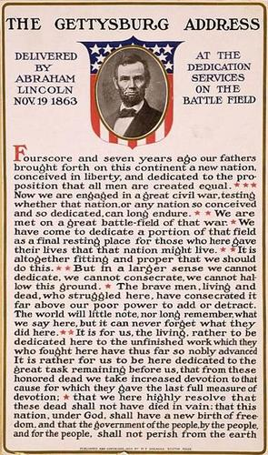 Teaching Gettysburg Address