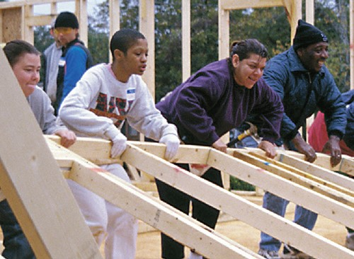 Teaching Lend a hand: Habitat for Humanity